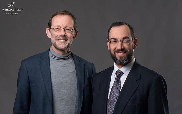 Moshe Feiglin and Ben-Tzion Spitz (Credit: Avshalom Levi)