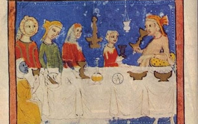 The four sons, from the 14th century Sarajevo Haggadah. (via The Times of Israel)
