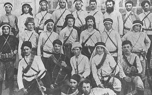 "Members of the Hashomer movement in the Upper Galilee. Hashomer (Hebrew: השומר, ""The Watchman"") was a Jewish defense organization in Palestine founded in April 1909. (Wikipedia Commons)"
