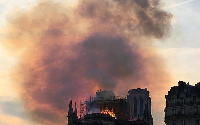 Notre Dame ablaze