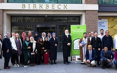 Outside Brikbeck College, University of London