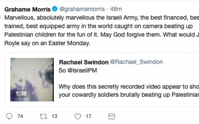 Grahame Morris sharing fake news