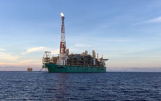 Floating liquefied natural gas plant. Shutterstock