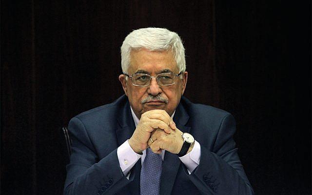 Palestinian President Mahmoud Abbas. (AP Photo/Issam Rimawi, Pool via Jewish News)