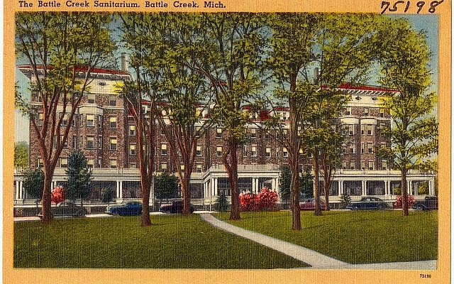 The Battle Creek Sanitarium, Battle Creek, Michigan. (Public Domain, Boston Public Library Tichnor Brothers collection/ Wikimedia Commons)