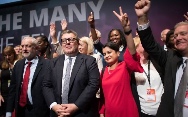Labour leader Jeremy Corbyn (left) and his shadow cabinet at the Labour Party annual conference (Photo credit: Stefan Rousseau/PA Wire via Jewish news)