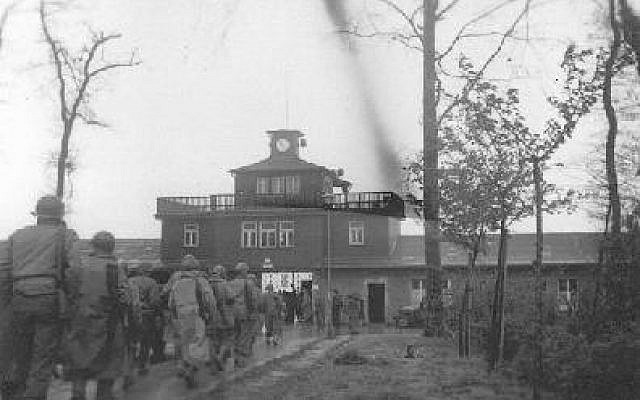 American Liberators entering Buchenwald