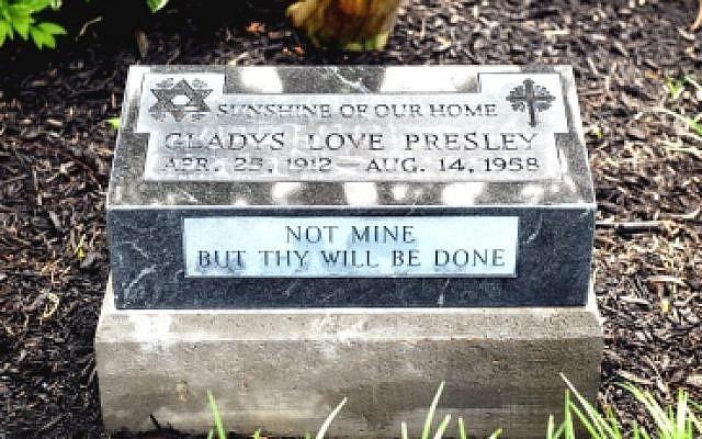 Gladys Love Presley Footstone