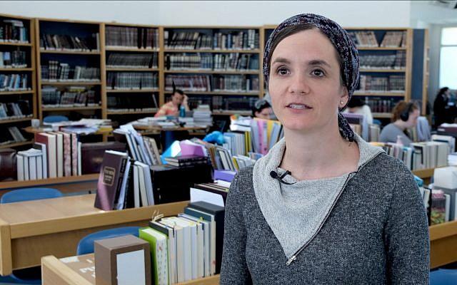 Shayna Goldberg, in the beit midrash (study hall). (Courtesy)