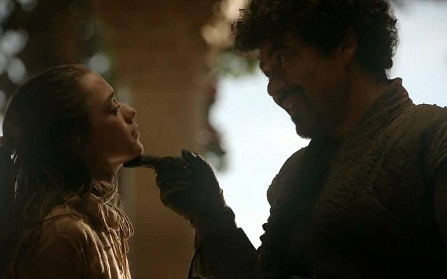 Arya Stark and Syrio Forel from Game of Thrones: 'Not today.' (YouTube)