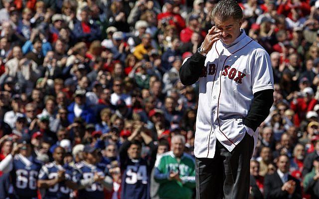 Bill Buckner, on the day in 2008 that Boston forgave him, Fenway Park. (Twitter)