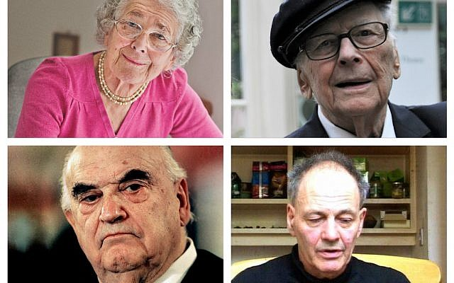 Judith Kerr and Victor Hochhauser, Lord Weidenfeld and Frank Auerbach