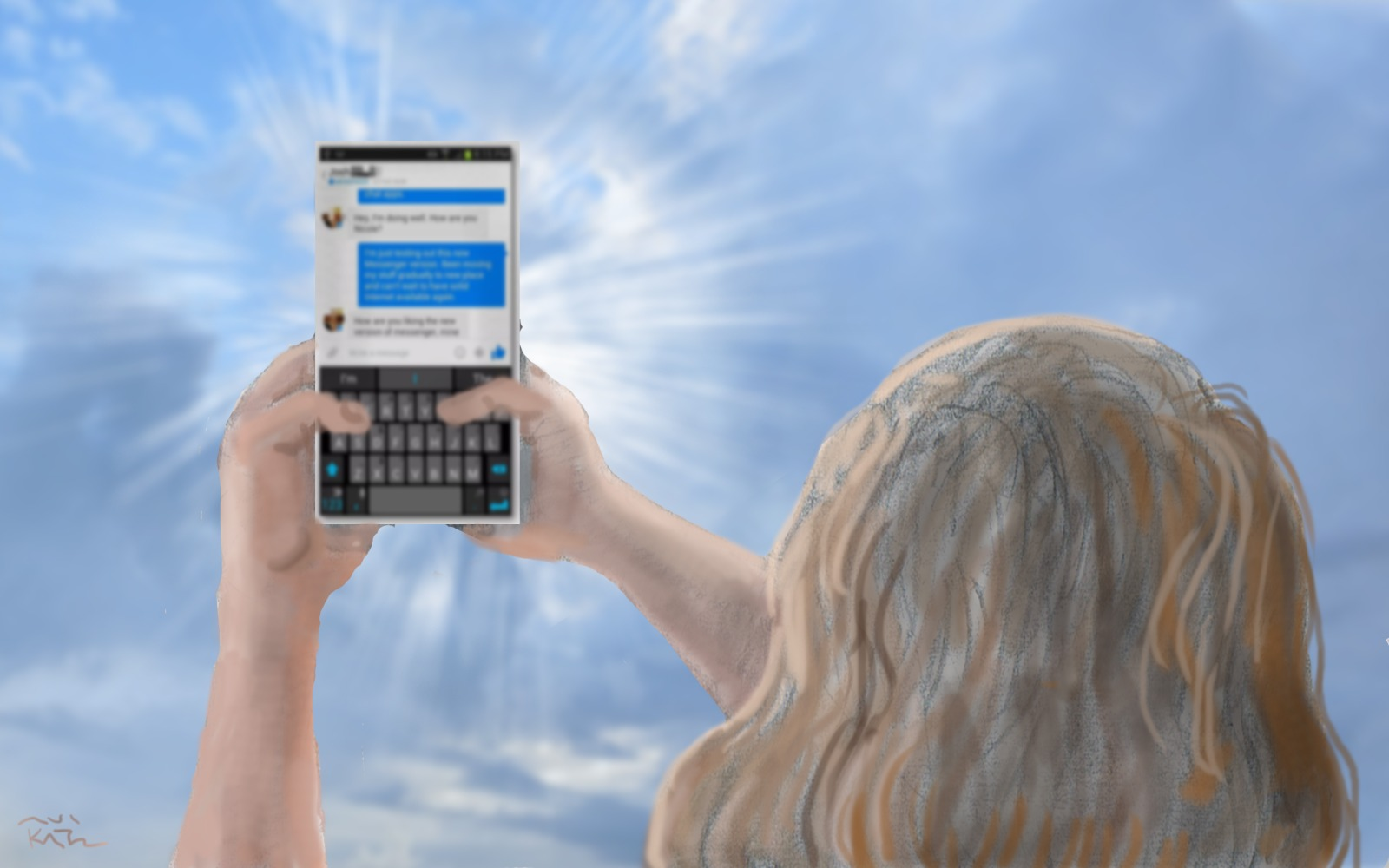 A mother's prayer on the occasion of her daughter's first cell phone
