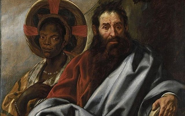 From Jacob Jordaens' painting, Moses and His Ethiopian Wife Zipporah. 1650. (Wikipedia)