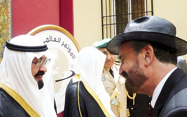 David Rosen with King Abdullah. Picture Supplied