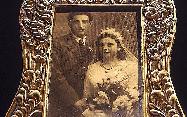 My parents' wedding photo, from Cremona DP Camp in Italy, December 1947. (Courtesy)