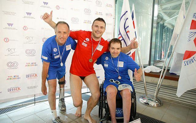 British and Israeli participants at the inaugural Veterans Games. (Jewish News)