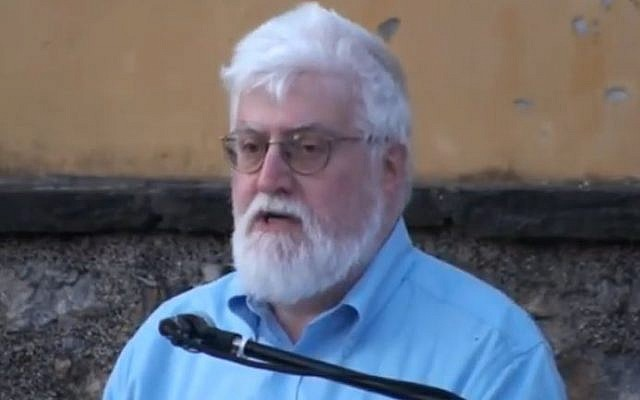 Moses Elisaf, the first Jewish person elected mayor in Greece. (Screencapture/YouTube)