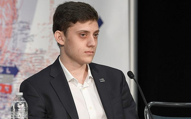 Kyle Kashuv attends Politicon 2018 at the Los Angeles Convention Center, October 20, 2018. (Michael S. Schwartz/Getty Images via JTA/File)