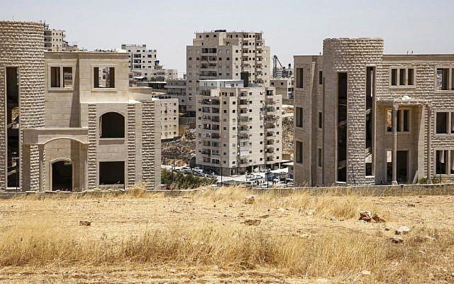 Buildings in the Sur Baher neighborhood of Palestinian East Jerusalem, which have been issued demolition notices, July 11, 2019. (Hazem Bader/AFP)