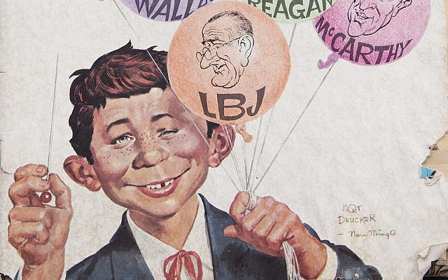 Detail of a cover of Mad Magazine, which will no longer publish new content, from 1968. (Elizabeth W. Kearley/Getty Images)