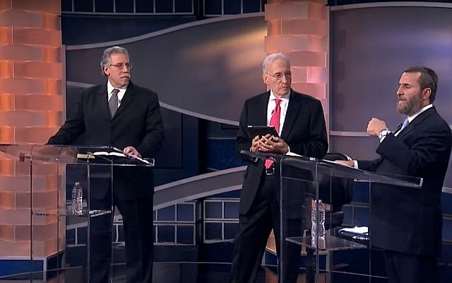 Dr. Michael Brown and Rabbi Shmuley Boteach on It's Supernatural with Sid Roth - The Real Kosher Jesus, uploaded May 14, 2012. (Screenshot, YouTube)