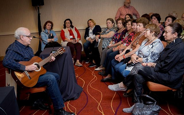 Illustrative: A guitar performance at Limmud FSU in Oakland, California. (Ekaterina Efimova)