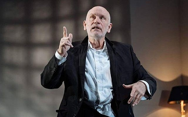 John Malkovich portrays Barney Fein in an outlandishly brilliant performance as a gnarly movie mogul that strikingly resembles Harvey Weinstein in Bitter Wheat, playing at West End's Garrick Theatre.