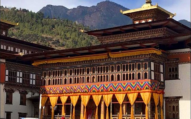 Tashichho Dzong monastery and fortress in Thimphu, Bhutan. (Israel Ministry of Foreign Affairs)