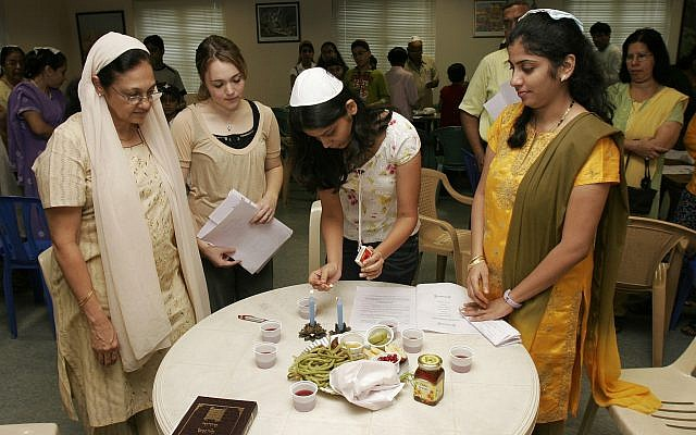 A ceremony at the JCC in Mumbai. (courtesy)