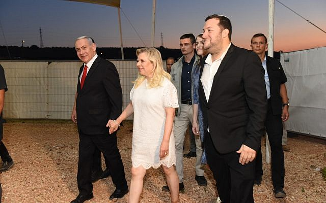 PM Netanyahu at event marking 40 years to the Shomron Regional Council. (Nissim Lev/Shomron Regional Council)