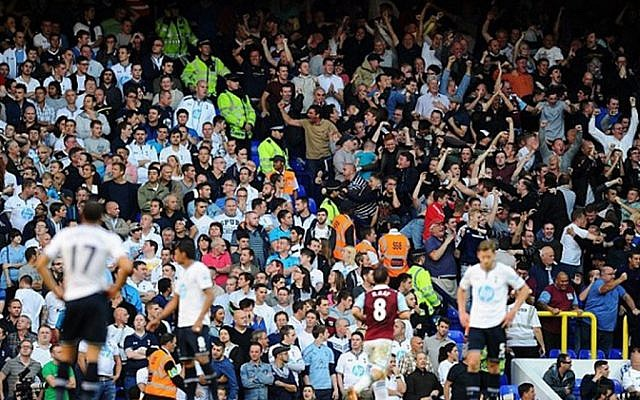 Spurs and West Ham fans during the London derby (Jewish News)