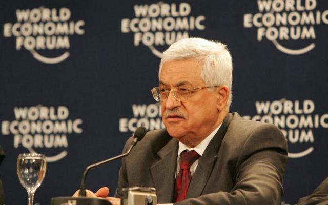 PLO Chairman Mahmoud Abbas at World Economic Forum in 2007 (Wikimedia Commons)
