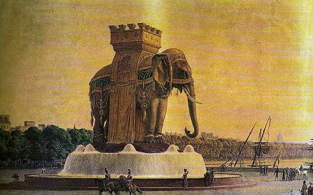 View of the Elephant of the Bastille. (Public Domain/ Wikimedia Commons)