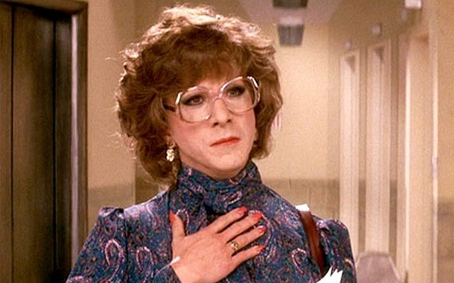 "Dustin Hoffman as ""Tootsie"" in the in the 1982 film."