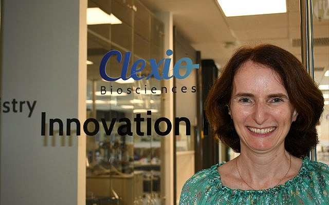 Elisabeth Kogan, CEO of Clexio Biosciences Ltd., now chairs the board of directors at Gvahim, a nonprofit organization that helps new immigrants find professional jobs in Israel. (Larry Luxner)