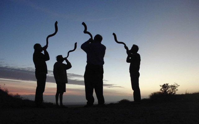 The shofars calls us to the New Year.