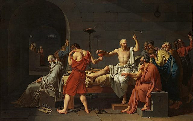 The Death of Socrates (1787), by Jacques-Louis David. (Public Domain/ Wikimedia Commons)