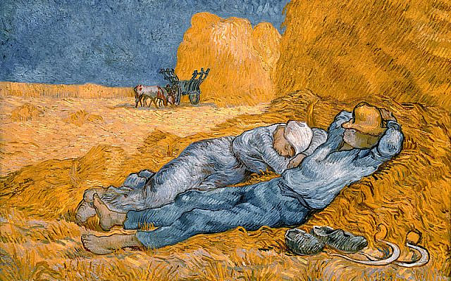 Noon – Rest from Work (1890) by Vincent van Gogh (after Millet), Public Domain, https://commons.wikimedia.org/w/index.php?curid=17404952
