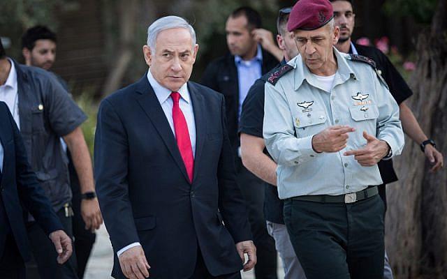 Benjamin Netanyahu with IDF chief staff Aviv Kochavi (BICOM / Jewish News)
