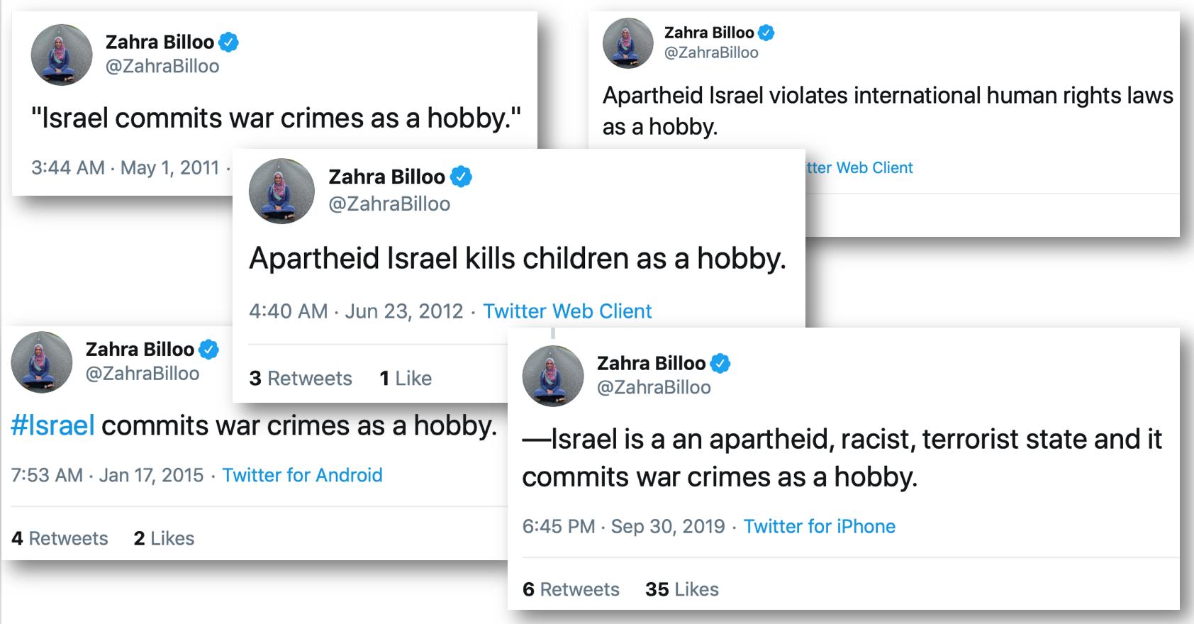 """Zahra Billoo's """"pro-Palestinian"""" anti-Semitism"""
