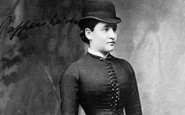 Bertha Pappenheim, 1882, at 22 years old. (From the archive of Sanatorium Bellevue, Kreuzlingen, Germany, Wikipedia)