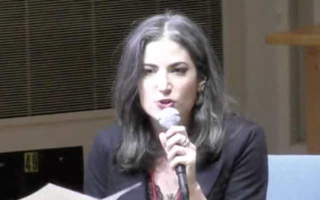 Forward opinion editor Batya Ungar-Sargon speaking at Bard College.