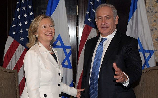 Then US Secretary of State Hillary Clinton and Prime Minister Benjamin Netanyahu in Sharm El-Sheikh, Egypt, September 14, 2010. Both won would go on to win the popular vote - Clinton in 2016 and Netanyahu in 2019 - but but not win the election. (US State Department photo/ Public Domain)