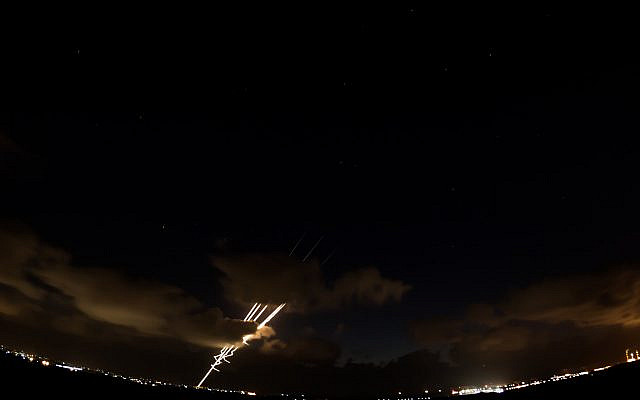 Rockets fired from the Gaza strip towards Israel (Israel Defense Forces/flickr.com/CC BY-SA 2.0)