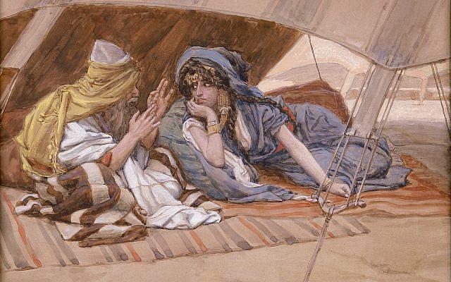 Abram's Counsel to Sarai, by James Tissot, circa 1896–1902. (Wikipedia)