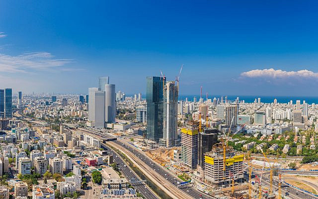 Extra large Panorama Of Tel Aviv Skyline,  Tel Aviv Cityscape Large Panorama At Day, Israel (via Bigstock)
