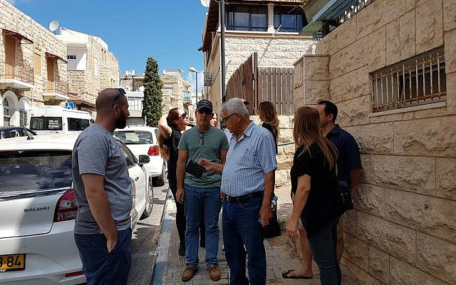 Staff from The Abraham Initiatives tour Haifa to learn about challenges and opportunities for shared society in a mixed city.  (Source: Yaacob Ibrahim, The Abraham Initiatives)