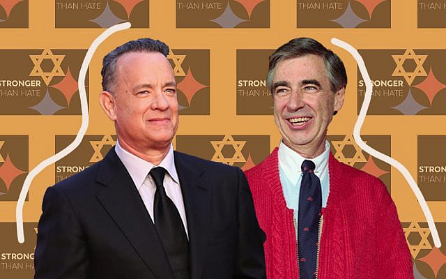 Tom Hanks, left, and Mister Rogers, whom he portrays in a film about the famed TV show host. (Vittorio Zunino Celotto/Getty Images; Bettmann/Getty Images