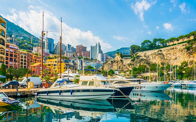 Old town of Monaco viewed from Port de Fontvieille